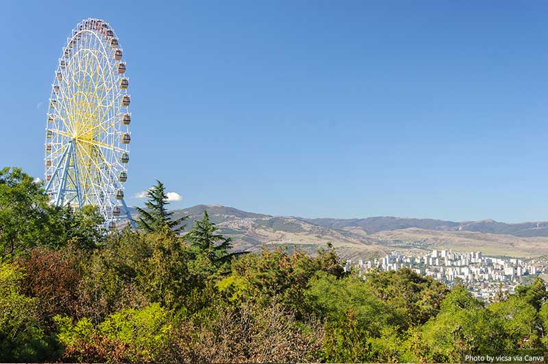 Ferris wheel at Mtatsminda Park