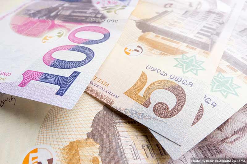Georgian lari banknotes