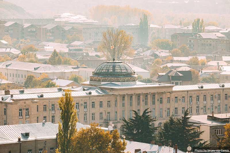 Hôtel de ville de Gori sur la place Staline