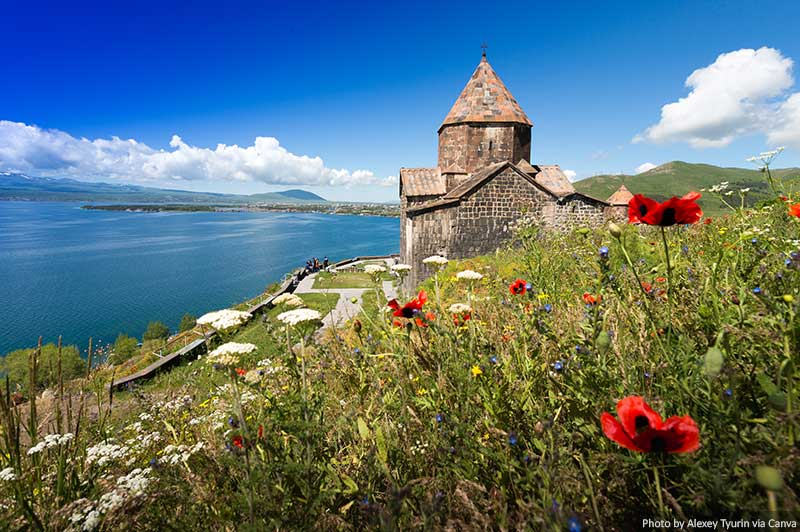 Lake Sevan and the Sevanavank Monastery