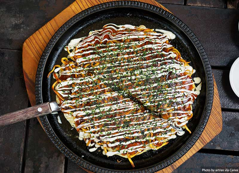 Okonomiyaki - Japanese pizza
