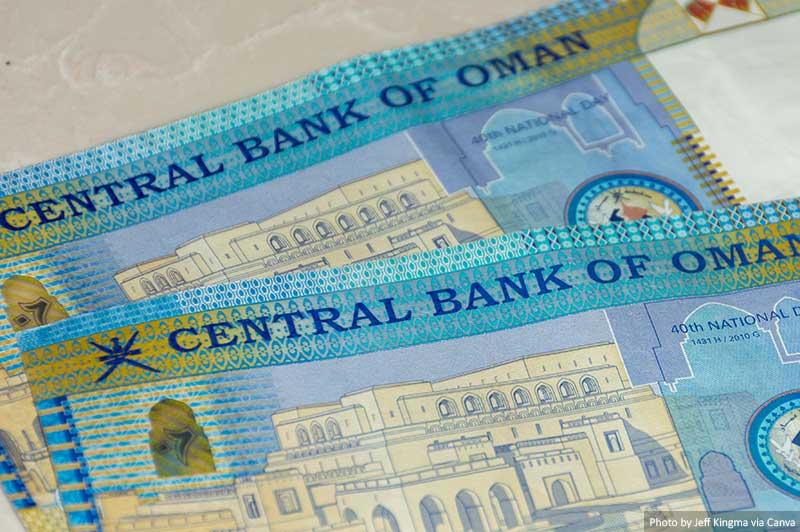 Oman Riyal bills of cash