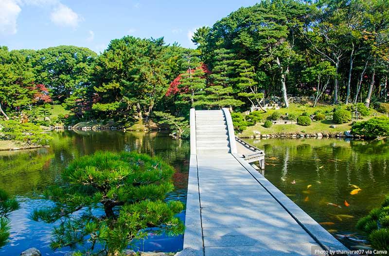 Shukkei-en japanese garden in Hiroshima