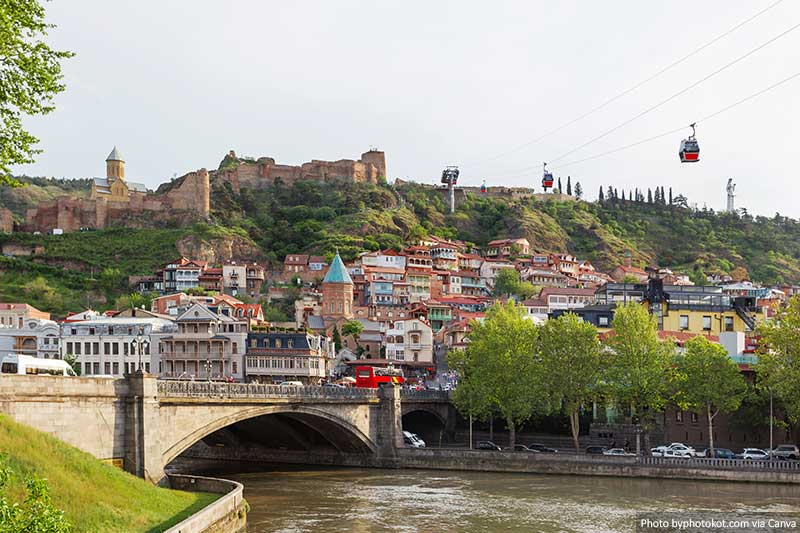 Tbilisi in Georgia