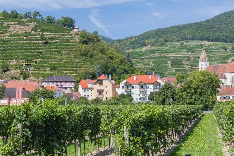 Villages and vineyards in Wachau Valley