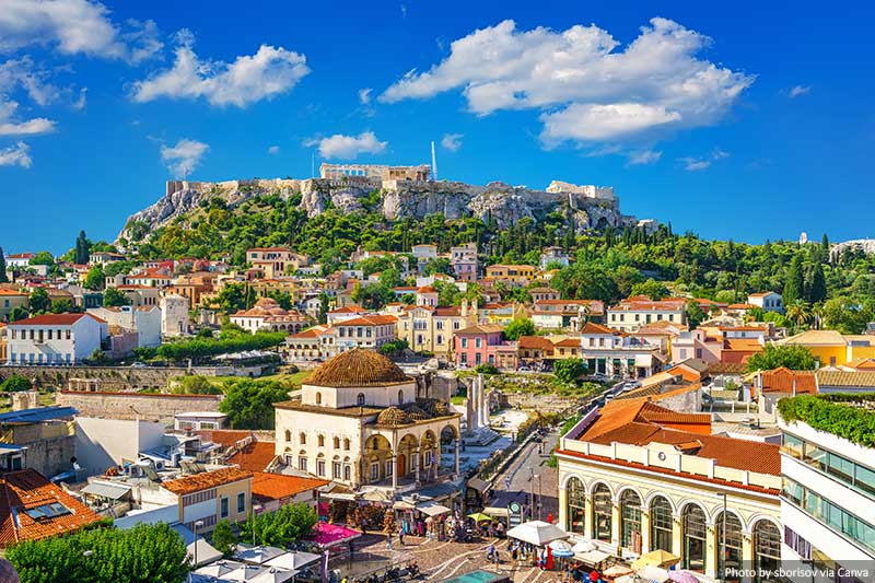 Athens skyline during the day