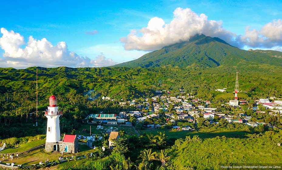 Basco in the province of Batanes, Philippines