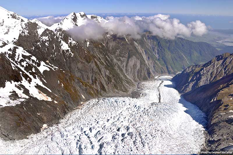 Franz Josef glacier high view