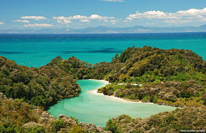 National park of Abel Tasman landscape