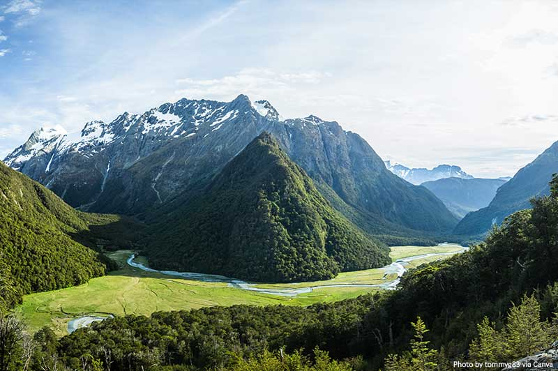 Routeburn Track and landscapes
