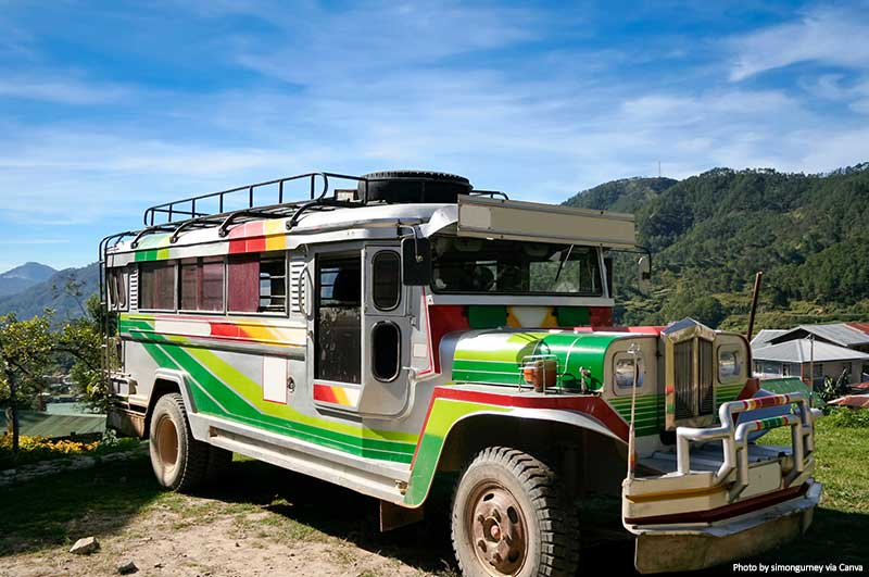 Traditional passenger jeepney in Philippines