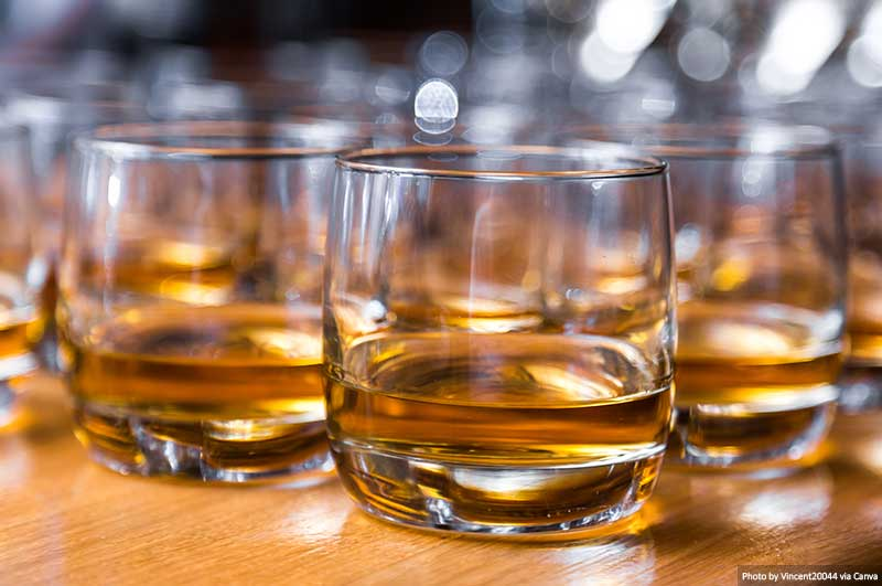 Whisky on the table