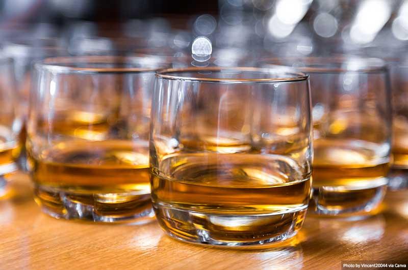 Whisky sur la table