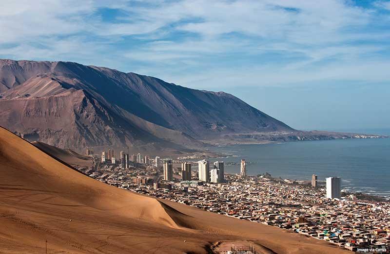 Aerial view of Iquique