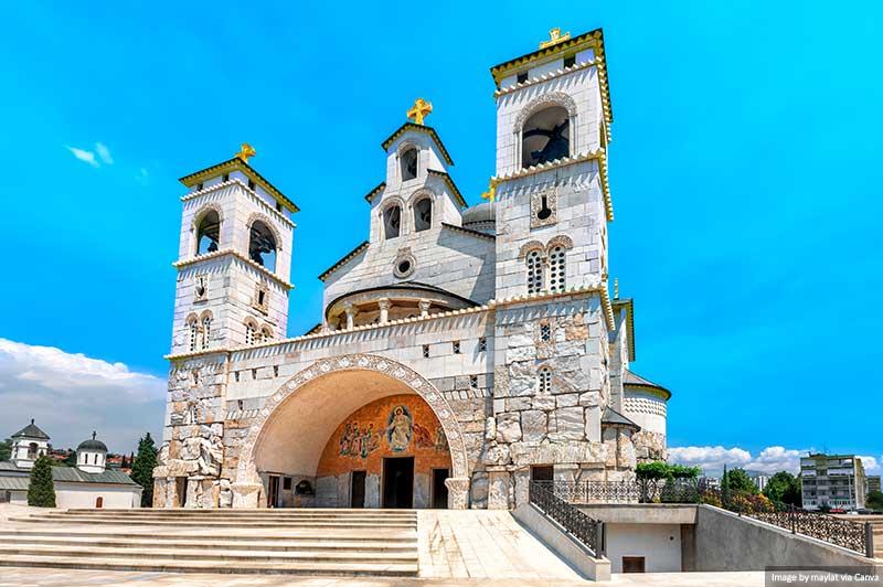Canva - Cathedral of the Resurrection of Christ in Podgorica, Montenegro