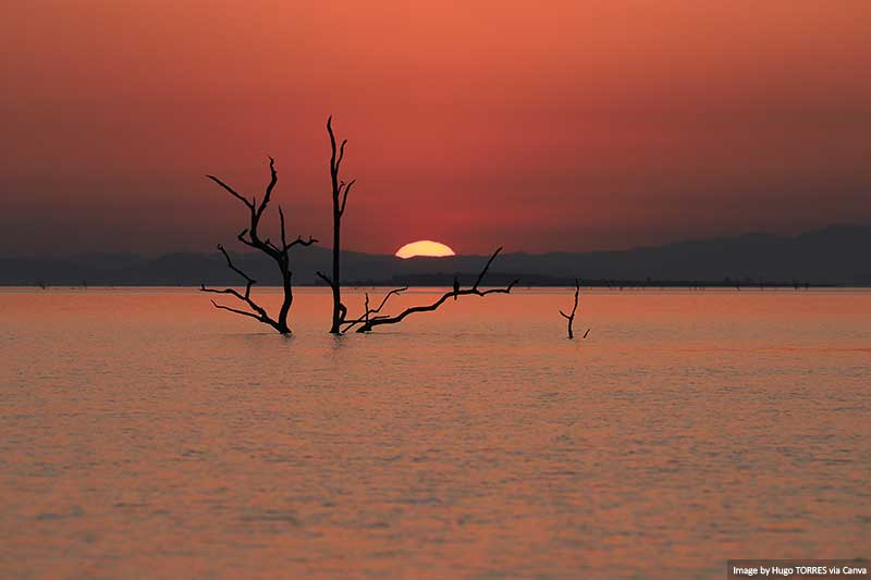 Lake Kariba at sunset