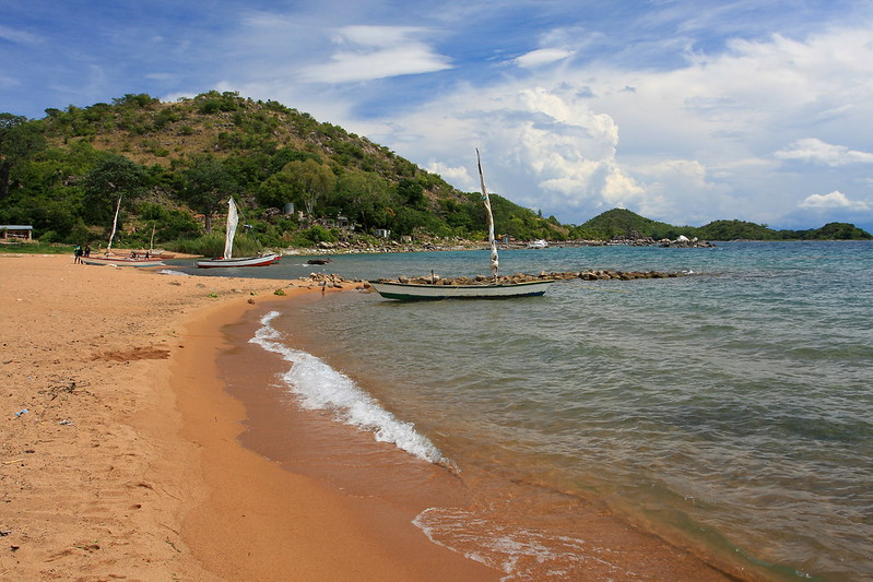 Beach at Likoma Island in Malawi
