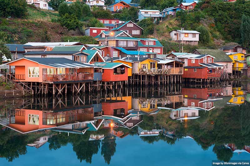 City of Castro at Chiloe Island