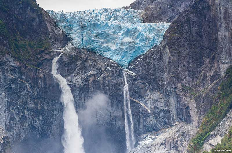 Hanging Glacier of Queulat National Park (Chile)