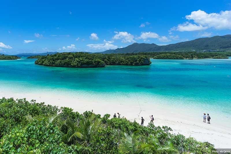 Tropical beach on Ishigaki Island, Okinawa