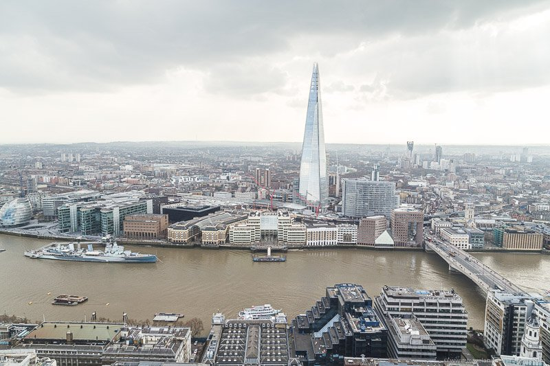 Views from the Skygarden in London