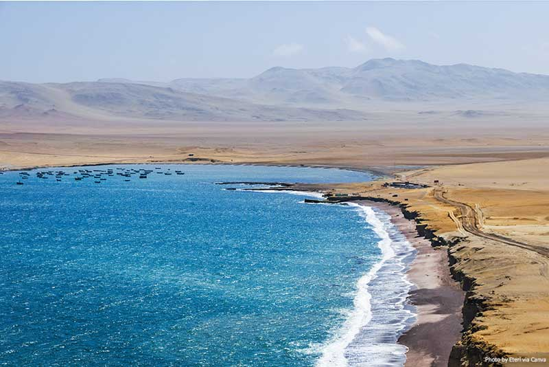 Coastline, Paracas National Reserve, Peru