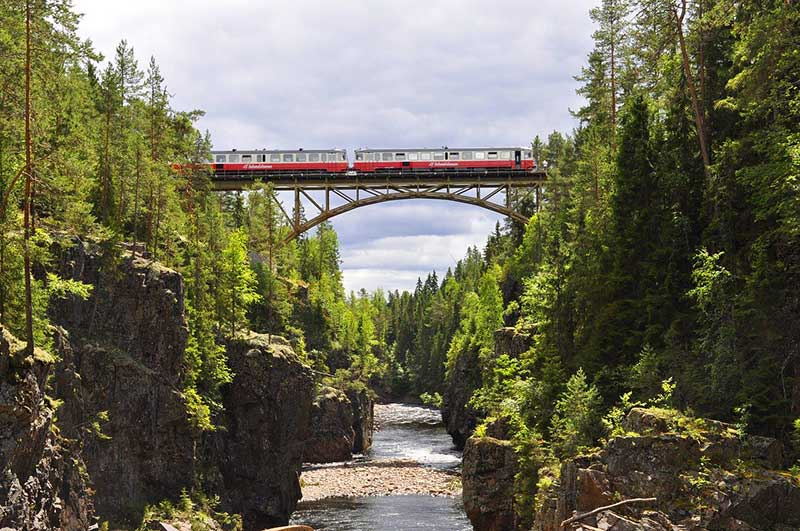 Inlandsbanan Train in Sweden