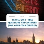 Travel Quiz - Free Questions and Answers (For your Own Quizzes)