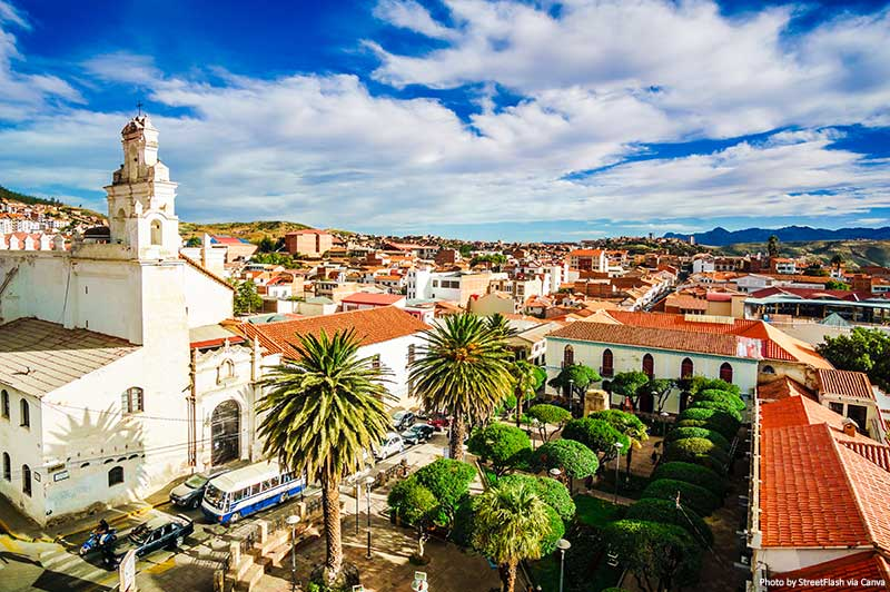 Colonial old town of Sucre, Bolivia