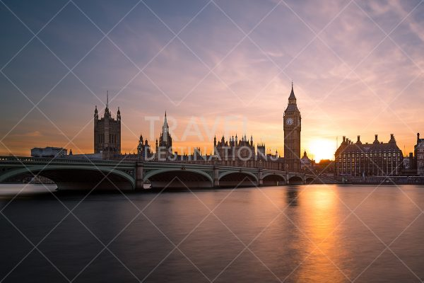 London Westminster at Sunset