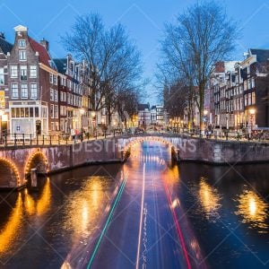 Amsterdam and Light Trails at Night