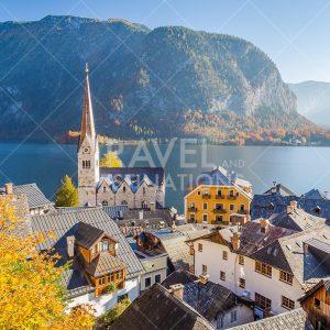 High views of Hallstatt in the Autumn