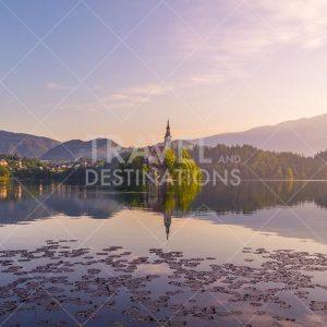 Lake Bled Landscape Photo at Sunrise