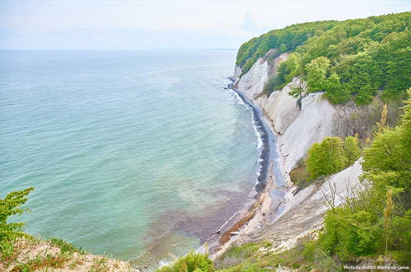 White chalk cliffs in Jasmund National Park