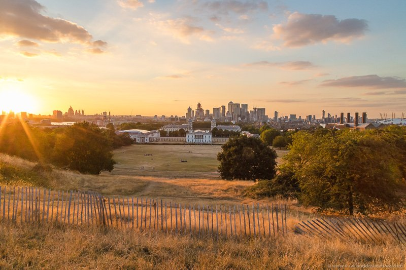Greenwich Park at Sunset