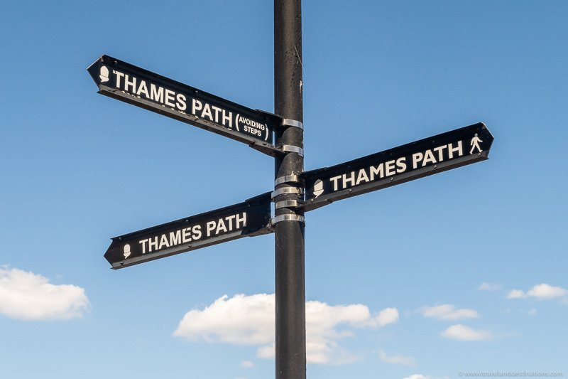 Sign for Thames Path