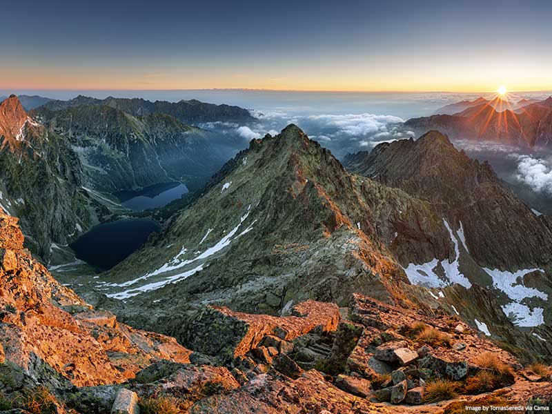 Tatra Mountains at sunset