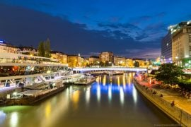 Danube Canal at night - Vienna