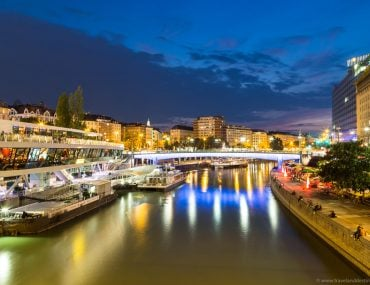 Danube Canal at night - Vienna