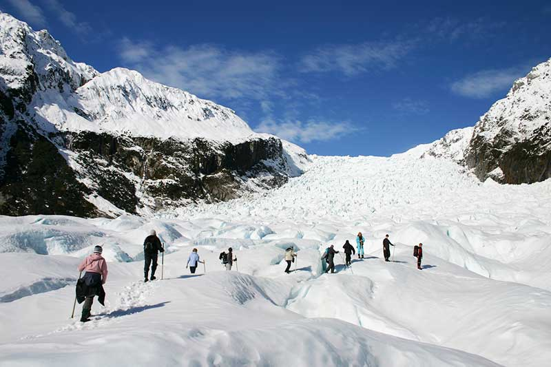 Hiking on the Fox Glacier New Zealand