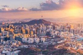 South Korea at Sunset
