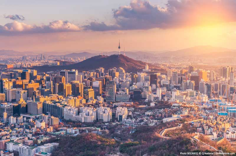 South Korea at Sunset