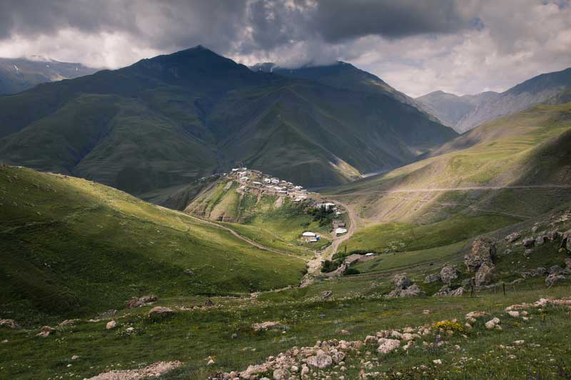 Xinaliq Mountain Village in Azerbaijan