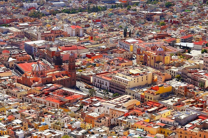 Aerial view of Zacatecas City, Mexico