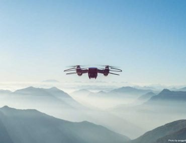 Drone and Mountains