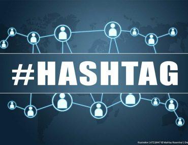 Hashtags concept