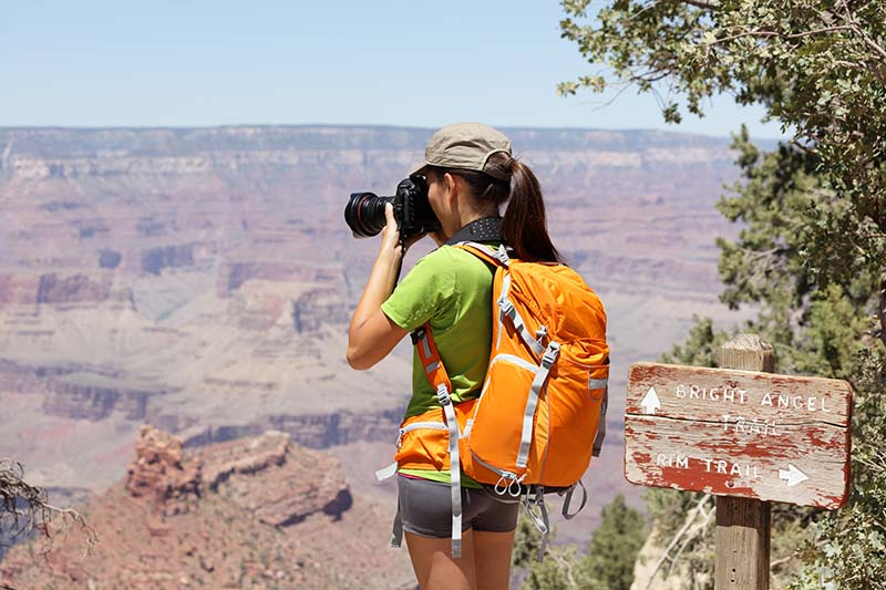 Hiker in the Grand Canyon