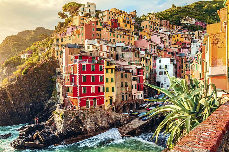 Riomaggiore colourful buildings