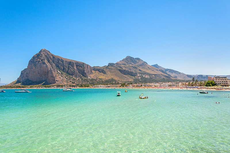 San Vito Lo Capo coast, beach and hills