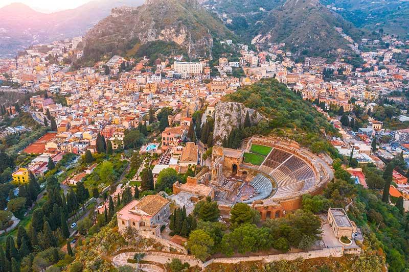 Taormina skyline, Sicily